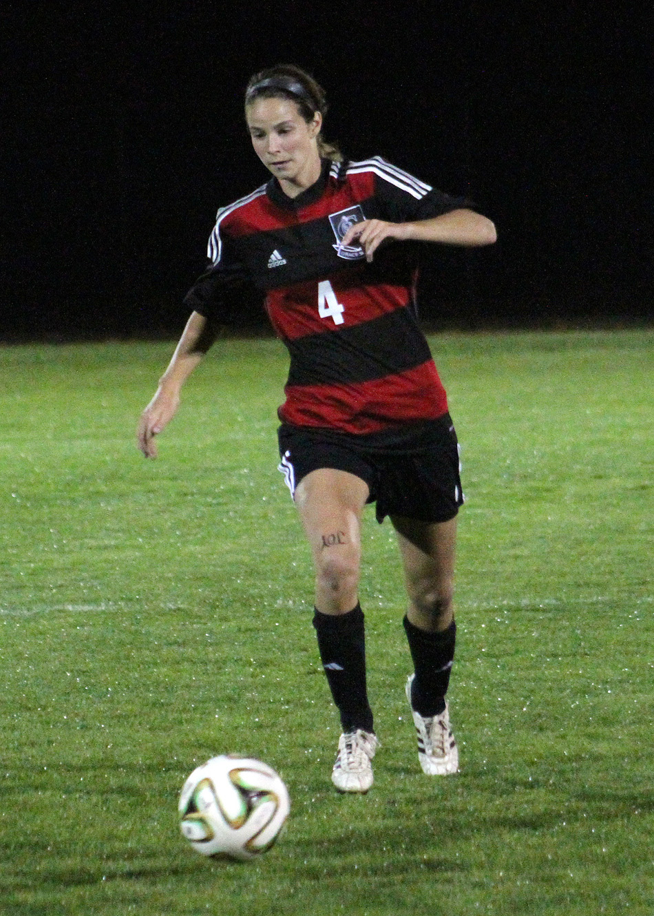 Grace College forward Mallory Rondeau netted a hat trick to help Grace beat Goshen Tuesday night. (File photo provided by the Grace College Sports Information Department)