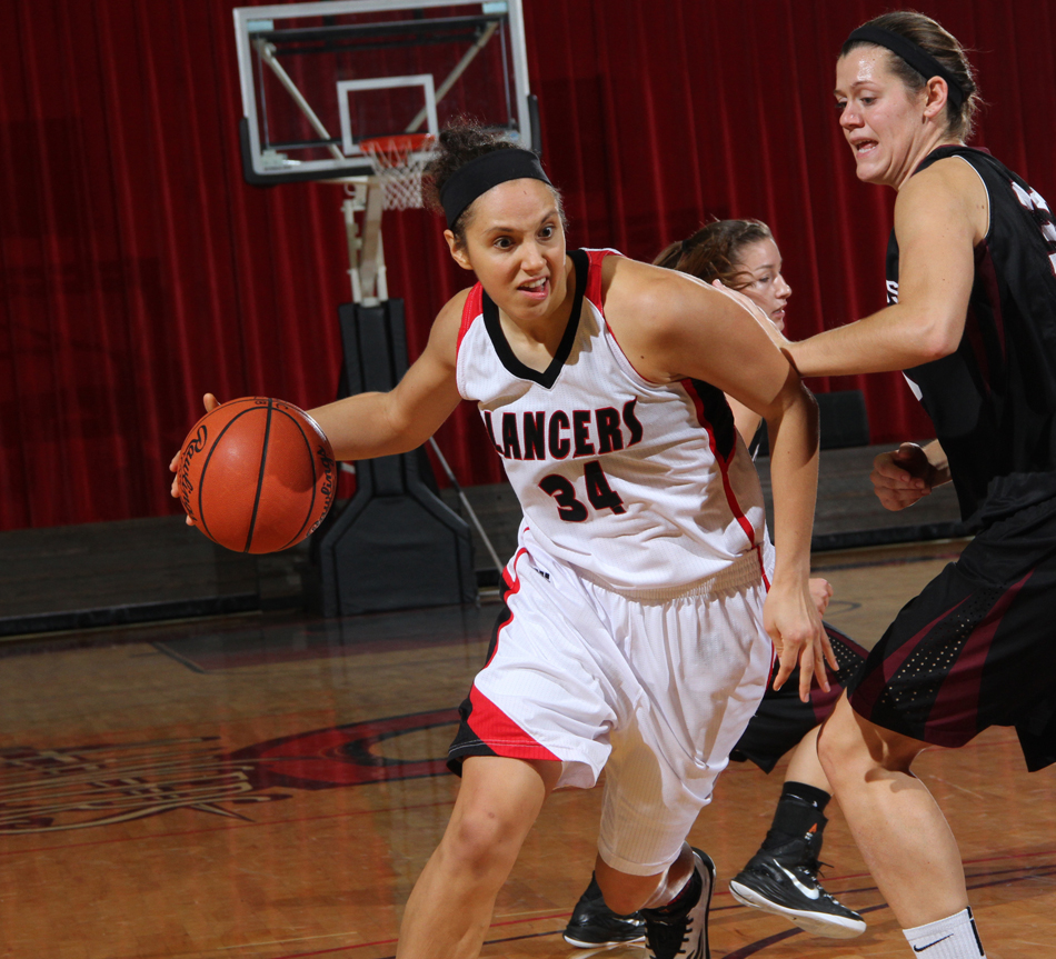 Grace College's Allison Kauffman scored 26 points to lead the Lady Lancers over host IUSB, 80-62. (Photo provided by the Grace College Sports Information Department)