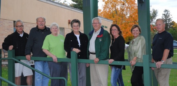 From the left are Sherman Goldenberg, Jon Sroufe and Connie Adams, all of the NWCC; Bev and Monty Ganshorn; Sue Fiedeke, Lori Marks and Jeff Atwood, board of directors.