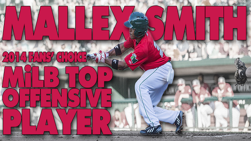 Former Fort Waybe Tin Caps player Mallex Smith was voted the top offensive player in minor league baseball. (Graphic provided by the Fort Wayne Tin Caps)