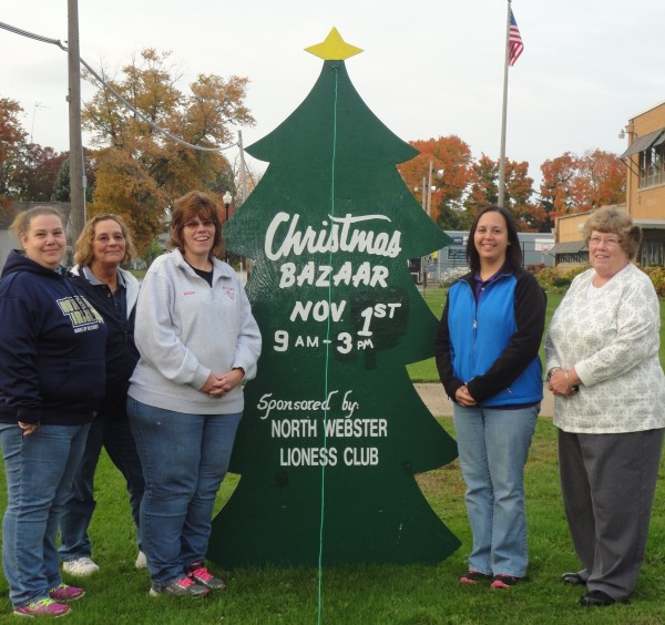 Andrea Chaney, Susan Corn, Alyssa Schmucker, Kassy Klinefelter and Sue Ann Mitchell of the North Webster Lady Lions.