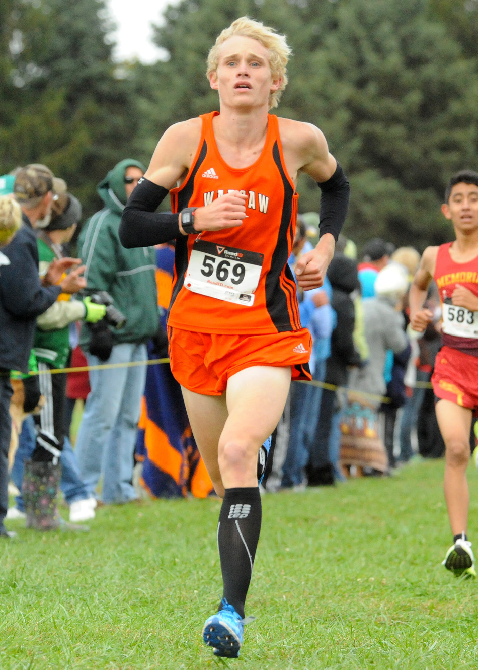 Warsaw's Owen Glogovsky will look to better his performance at the Culver Academy Cross Country Sectional after falling off the pace at the NLC. (Photo by Mike Deak)