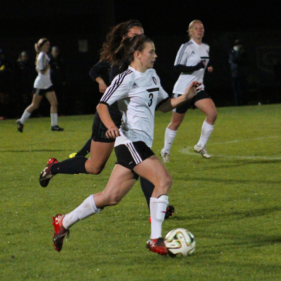 Grace College's Heather Martin advances the ball against Mt. Vernon. (Photo provided by the Grace College Sports Information Department)