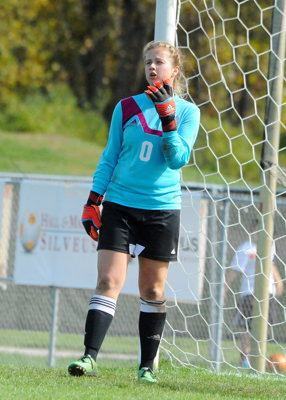 Warsaw goalkeeper Gabby Herman hasn't had much work to do in the postseason, making just four saves in two matches.