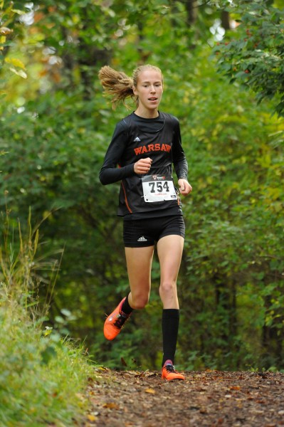 Sophomore Allison Miller will lead the No. 6 Warsaw girls cross country team into semi state action Saturday (File photos by Mike Deak)