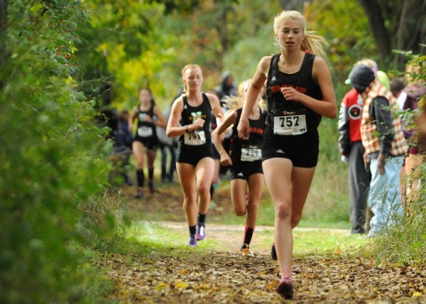Brooke Rhodes is ready to help lead her No. 6 Warsaw girls cross country team into the State Finals on Saturday in Terre Haute (File photo by Mike Deak)