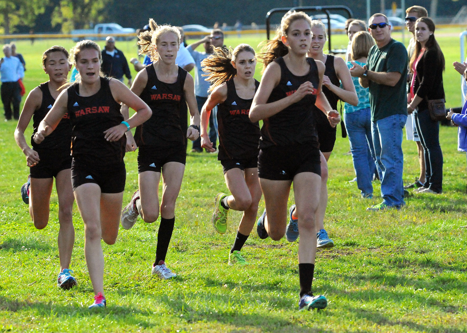 The Warsaw girls cross country team should be well represented at Saturday's Northern Lakes Conference Cross Country Championships. (Photos by Mike Deak)