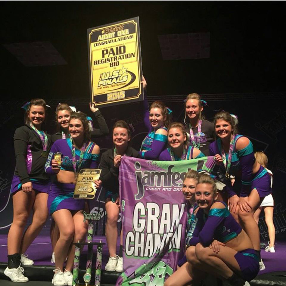 """The Midwest XTreme cheer team """"C4"""" won the special . (Photo provided by Tim Salmons)"""