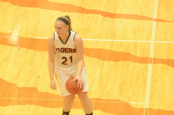 Senior Jodie Carlson scored nine points, all in the second half, to help her Warsaw team defeat Huntington North 47-41 in their season opener Saturday night at home.