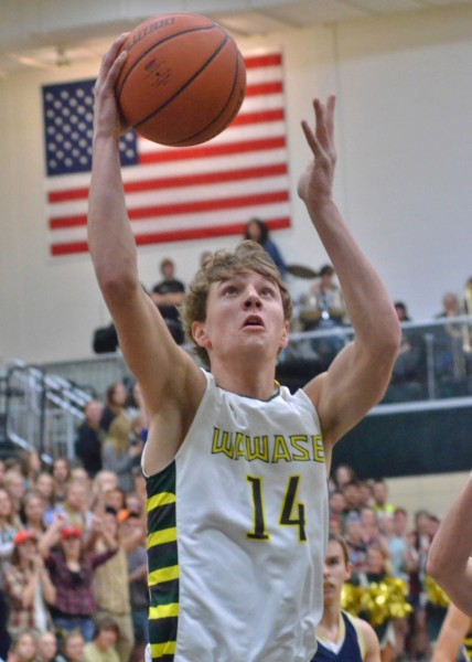 Wawasee's Gage Reinhard led all scorers with 23 points in Tuesday's 56-51 victory over Fairfield. (Photos by Nick Goralczyk)