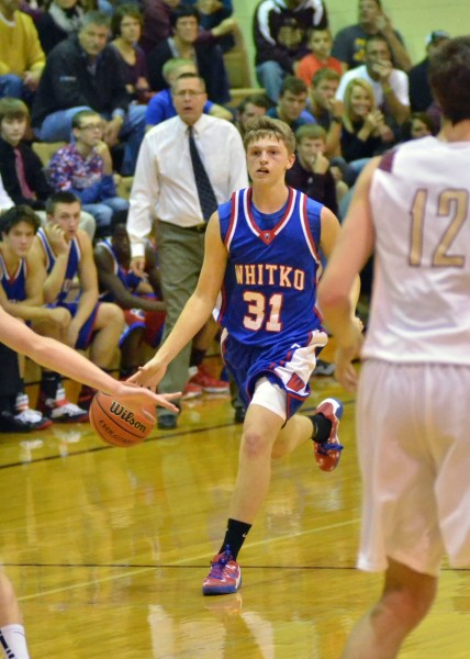 River West scored seven points in his prep debut for Whitko. (Photos by Nick Goralczyk)