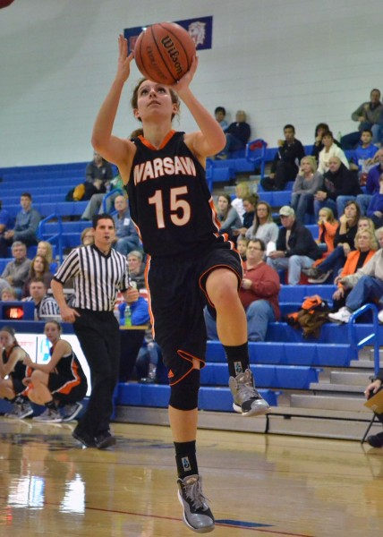 Vicki Harris scored 10 points for Warsaw in Friday's victory over Whitko. (Photos by Nick Goralczyk)