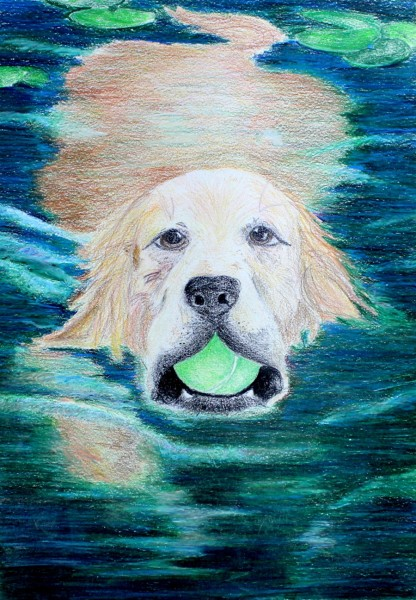 "Pictured is ""Fetch"" by Shelby Martin, the 2014 first place winner in the ninth through tenth grade category of the Wonderful Water Student Art Contest."