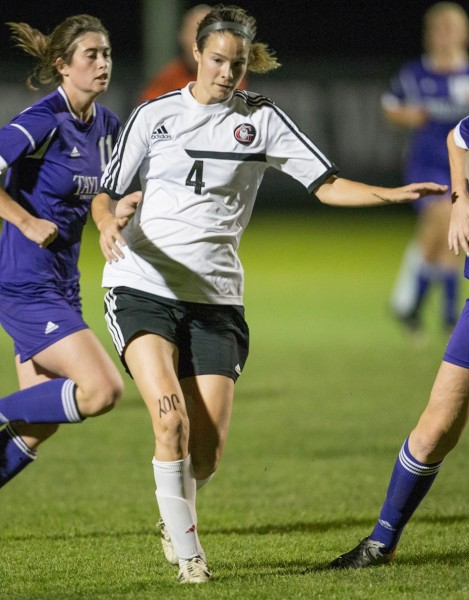 Mallory Rondeau, a Wawasee High School graduate, scored the game winner for Grace Saturday night in the conference tournament opener (File photo provided by the Grace College Sports Information Department)