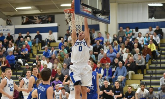 Clay Yeo tossed in 31 points to lead Bethel to a victory over Holy Cross Tuesday night. (Photo provided by the Bethel College Sports Information Department)