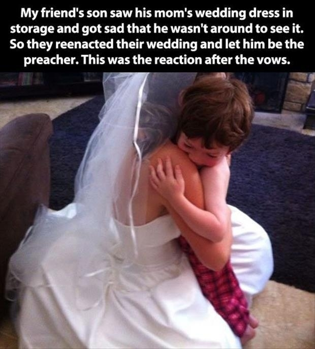 reenact wedding for son