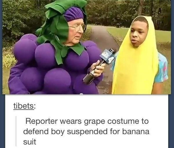 grapes defend banana