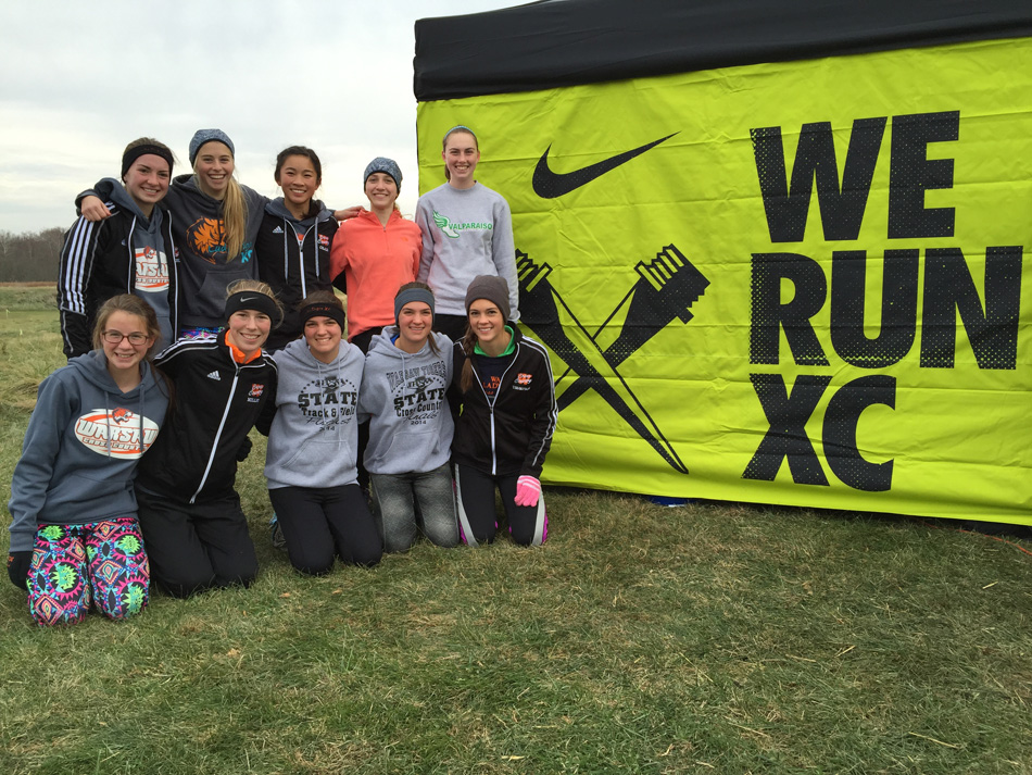 Members of Warsaw's girls cross country team ran at the Nike Midwest Regional last weekend in Terre Haute. (Photo provided by Matt Campbell)