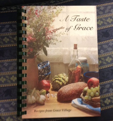 "A copy of ""A Taste of Grace."" (Photo by Jarrett Van Meter)"