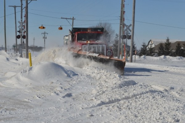 Plow truck, March of 2014. (Photo by Deb Patterson)