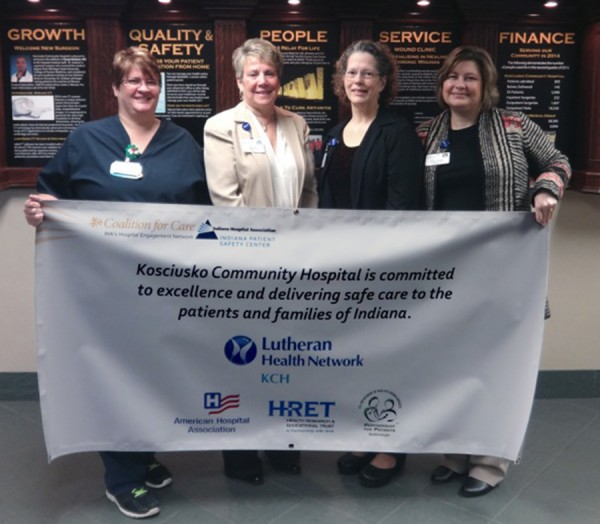 L to R: Director of ICU, Tammy Johnson; Chief Nursing Officer, Kim Finch; Director of Environmental  Services, Siobhan Davenport and Chief Quality Officer, Terry Owens.