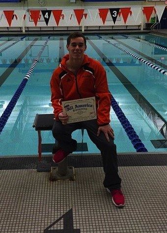 Spencer Davidson of the WCHS swim program has been honored for his performance in the pool and in the classroom.