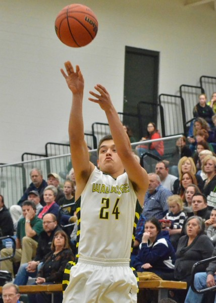 David Rocha hit two threes in Saturday night's win over Whitko. (Photos by Nick Goralczyk)