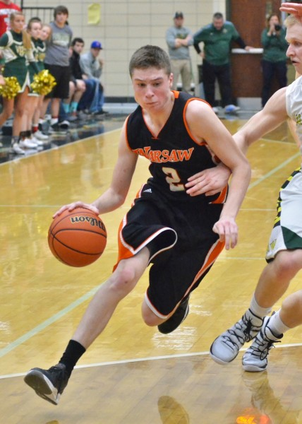 Kyle Mangas scored 14 points for the Tigers in Friday's win over Wawasee. (Photos by Nick Goralczyk)