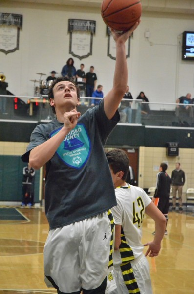 Wawasee's Parker Hatfield wears one of the shirts that were for sale at Friday's game. (Photos by Nick Goralczyk)