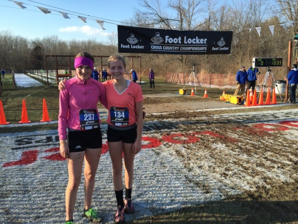 The duo of Remi Beckham and Megan Dawson, shown above, ran in the Foot Locker Midwest Championships on Saturday.