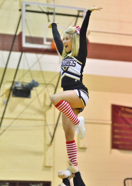 Columbia City cheerleader Miranda Eber.