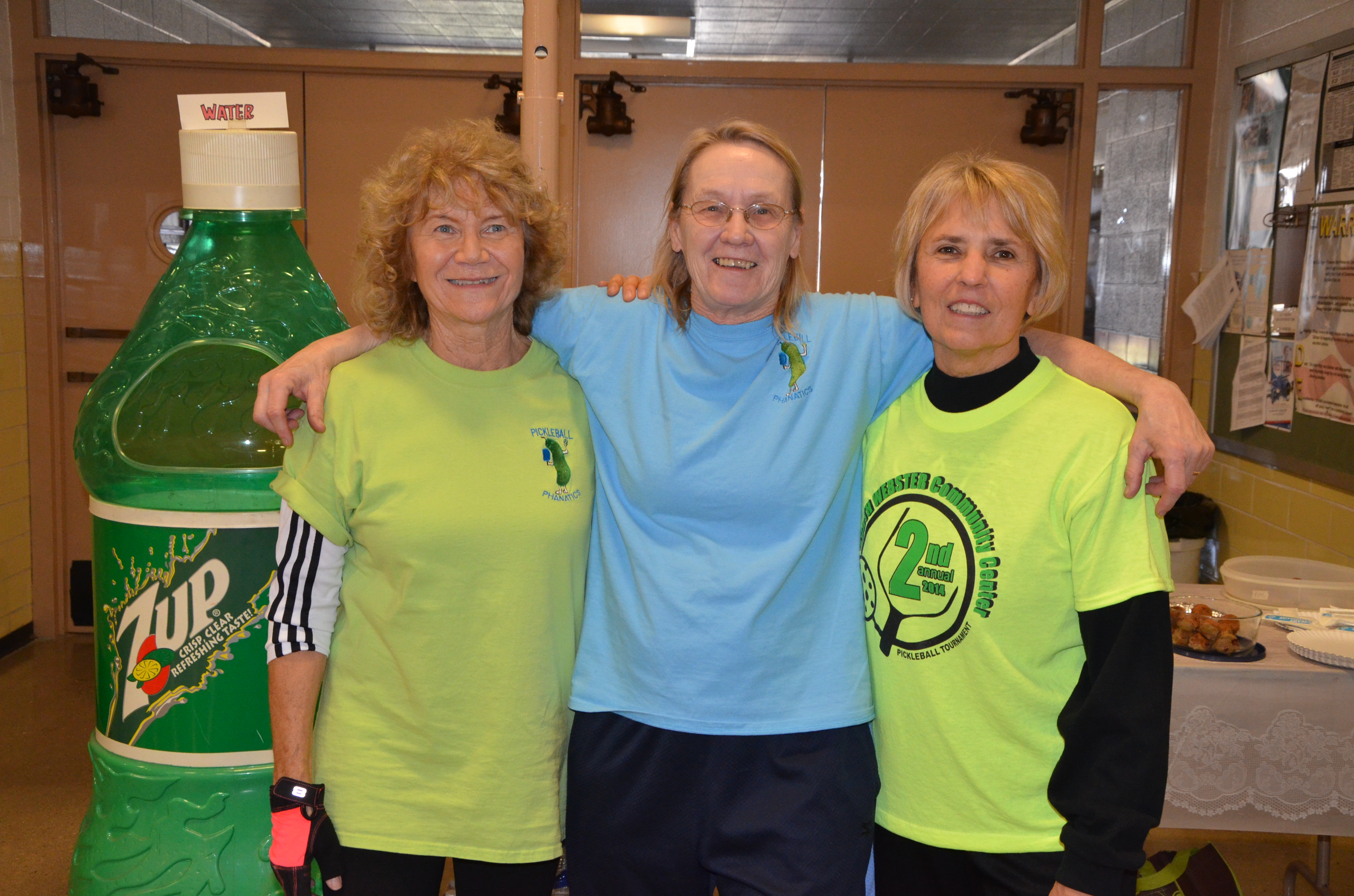 Women's division winners pose for a photo (from left):  Edie Watson, first place; Dianne Rice, second place; and Kathy Tittle, third place.