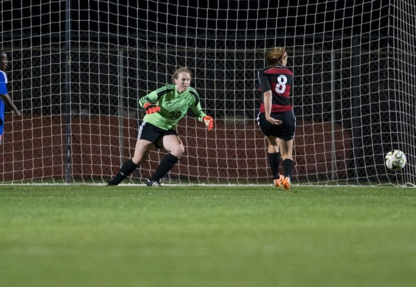 Grace College freshman goalie Abby Schue, a WCHS graduate, helped lead the Lancers to a runner-up finish in the NCCAA National Championships (Photos by Jeff Nycz)