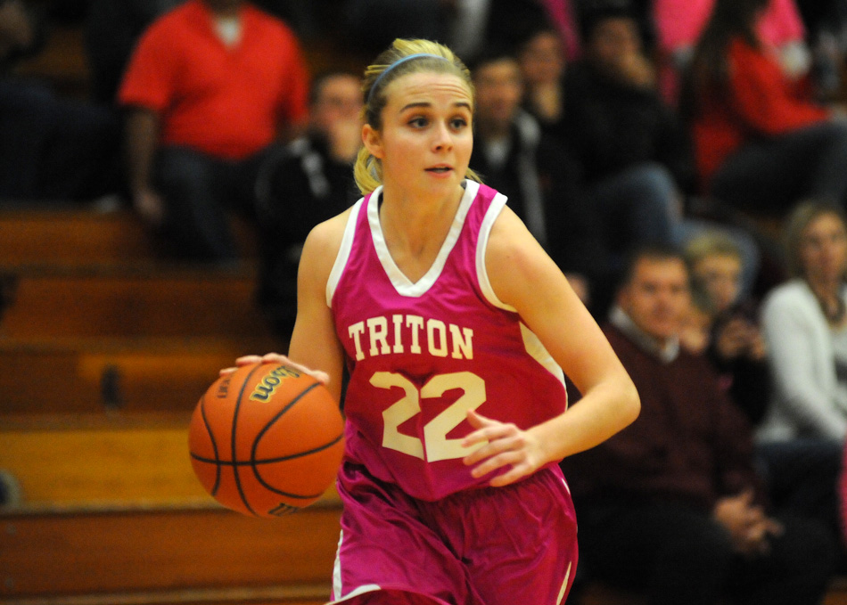 Triton's Kylie Mason surpassed the 1,000-point mark Wednesday night against Rochester. (File photo by Mike Deak)