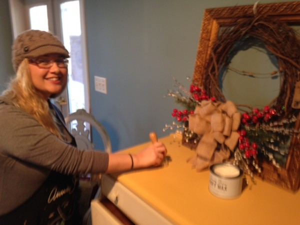 Tammy Durnell, owner/artist of Poppy Cottage, is shown at work.