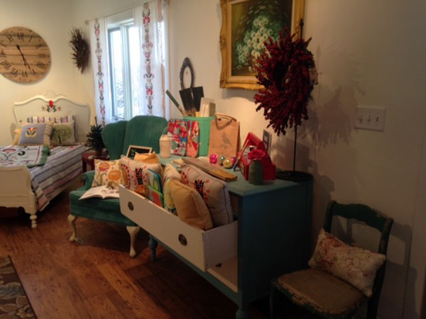An interior view of the Poppy Cottage