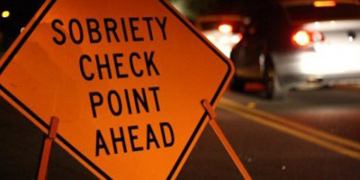 sobriety check point icon