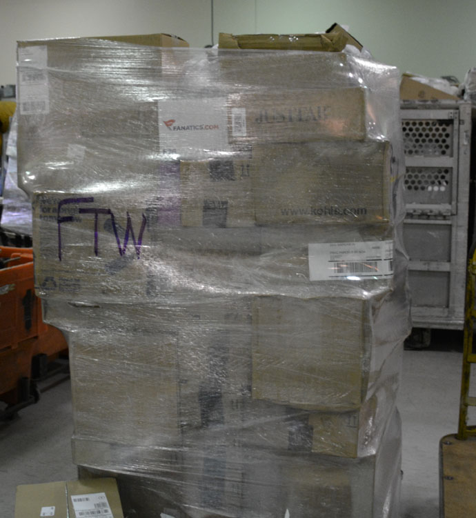 A large bundle of packages to be shipped off. (Photo by Jarrett Van Meter)