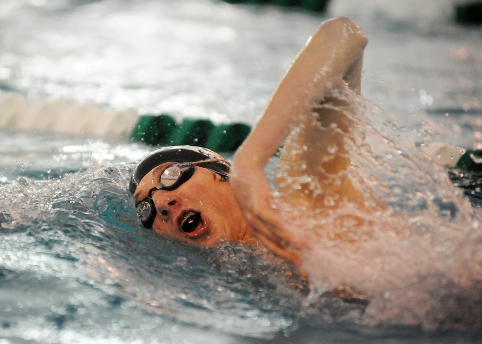 Brett Willaman of Wawasee works the 200 freestyle.