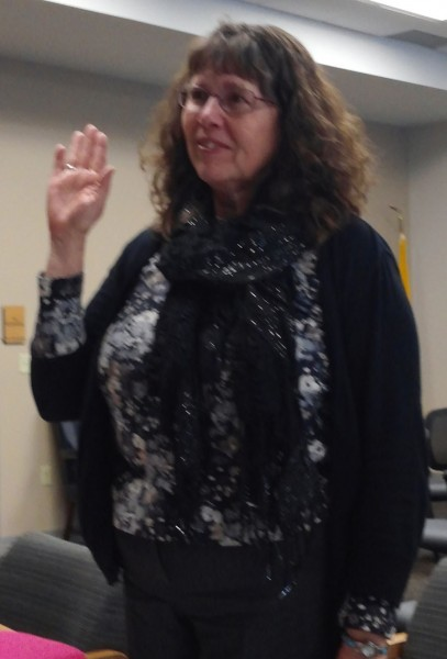 Diane Quance takes her oath of office