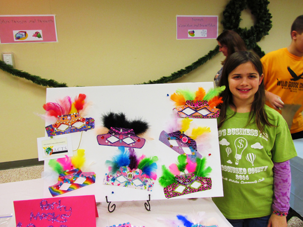 "The 2014 Kids Business Fair winner of ""Highest Business Potential"" for grades three through five was Talia Holder, Mentone. The second annual fair will be held from 10 a.m.-1 p.m. Saturday, March 14, North Webster Community Center. (Photo provided)"