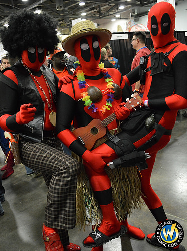Cosplayers celebrate their love of Deadpool and the convention.  (All photos courtesy of Wizard World)