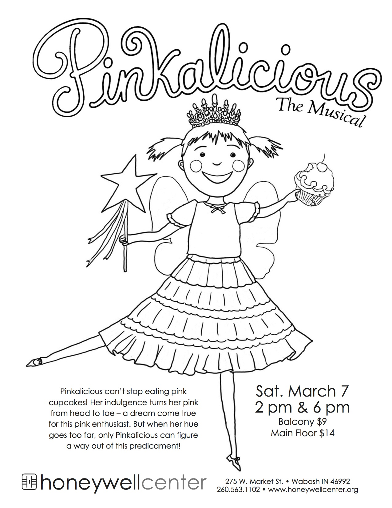 Winner Announced: Pinkalicious At The Honeywell — Coloring ...