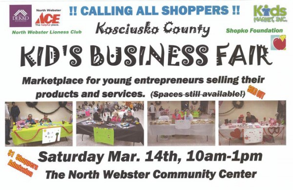 kids business fair in webster