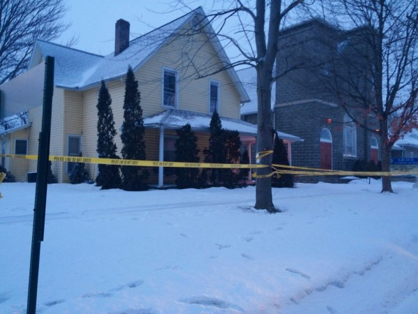 The house at 205 E. Main St., Syracuse, where the shooting took place. (Photo by Deb Patterson)
