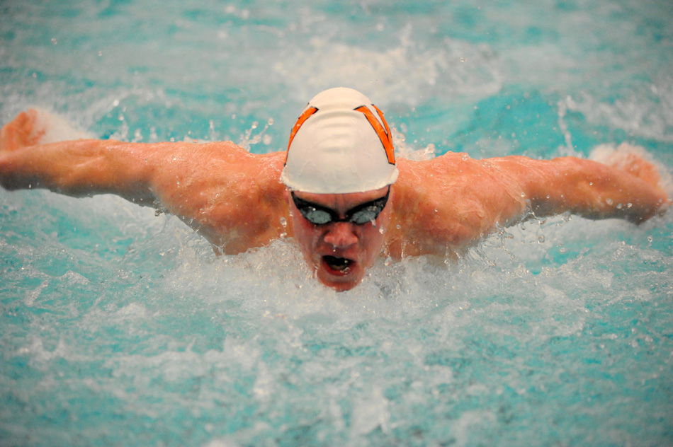Warsaw's Hudson Snyder qualified No. 2 in the individual medley ahead of Saturday's finals at the Warsaw Boys Swimming Sectional. (Photos by Mike Deak)