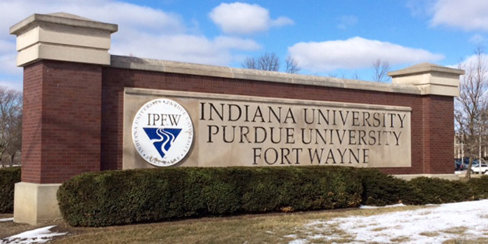 IPFW sign