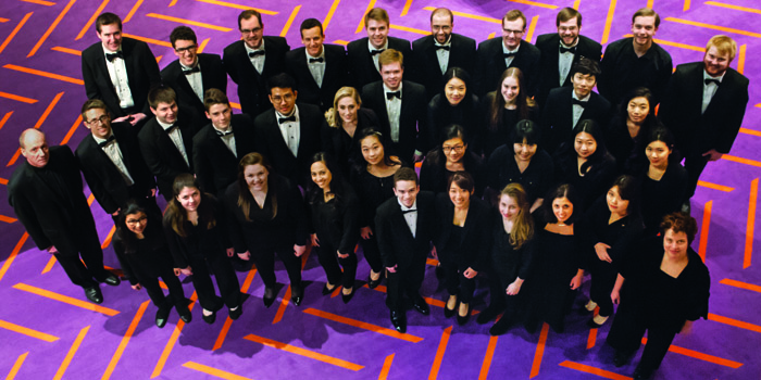Iu chamber orchestra performing in south korea on spring for Chamber orchestra