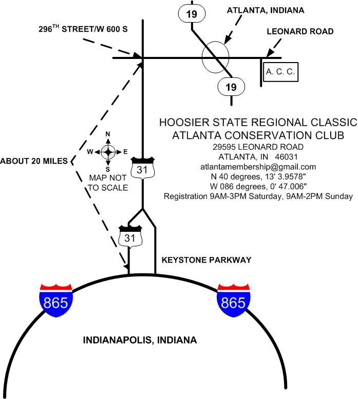 This map shows how to get to July's event in Atlanta, Ind. (Photo provided)