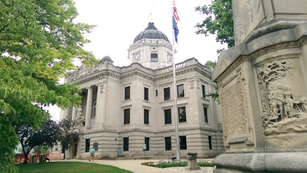 The epicenter of Indiana limestone country is the Monroe County Courthouse, completed in 1908 and built of locally quarried limestone. It is listed on the National Register of Historic Places.